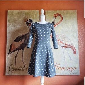 ModCloth Impact Made Easy Knit Dress, Gray, Stars